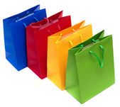 Shopping bags isolated — Stock Photo