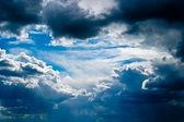 Scenic cumulus clouds — Stock Photo