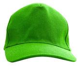 зеленая кепка изолирован — Стоковое фото