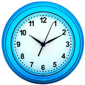 Wall clock isolated — Stock Photo