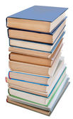 Pile of books isolated — Stock Photo