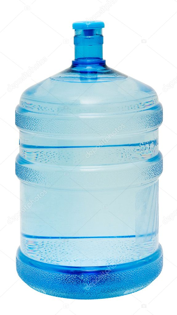 A large bottle of pure water on a white background. Studio work. — Stock Photo #3202038