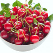 Stock Photo: Cherries in bowl