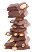 Stapel van melkchocolade — Stockfoto