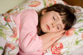 Sleeping girl — Stock Photo