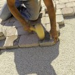 Work paving — Stock Photo