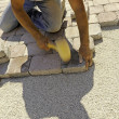 Stock Photo: Work paving