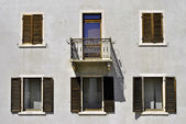 House with windows — Stock Photo