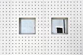 Aluminum wall — Foto Stock