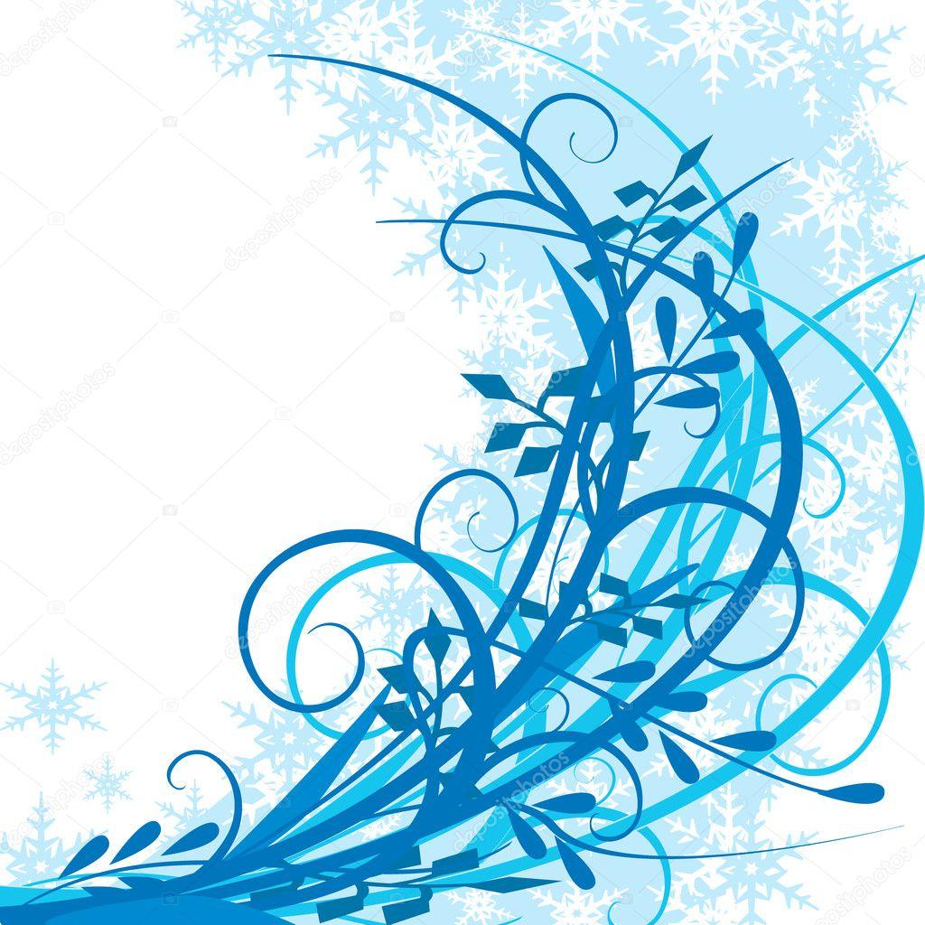 冬天背景 — 图库矢量图像08