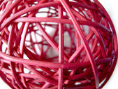 Red rattan ball — Stock Photo