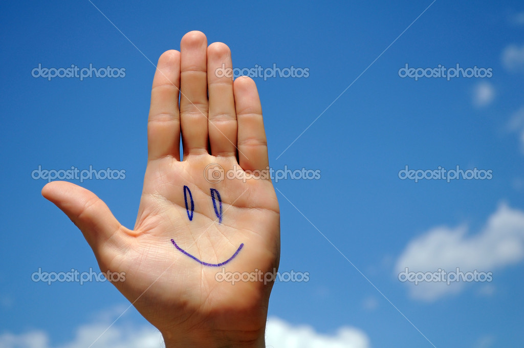 Smiling hand.  Stock Photo #3257327
