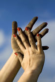 Dirty hands — Stock Photo