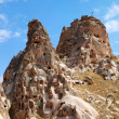 Rock castle in Uchisar - Stock Photo