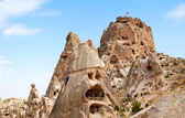 Rock castle in Uchisar — Stock Photo