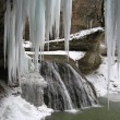 Stock Photo: Icicles and falls
