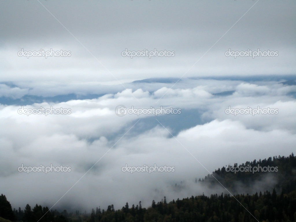mountains with clouds fog - photo #23