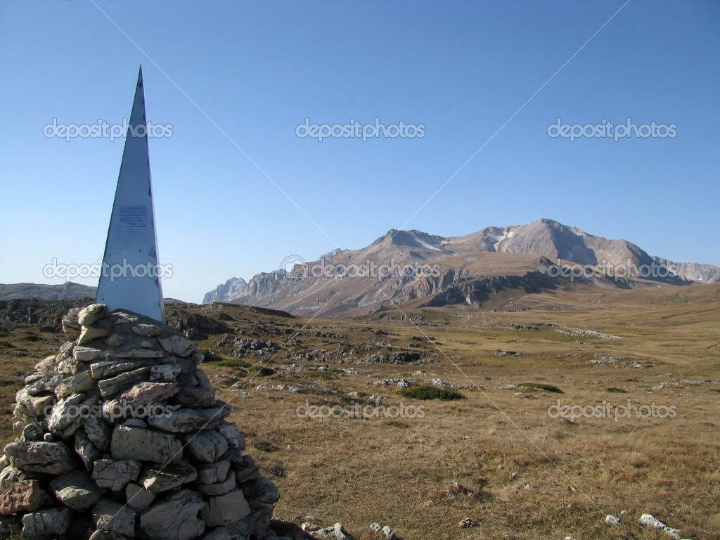 The main Caucasian ridge; rocks; a relief; a landscape; a hill — Stock Photo #3913081