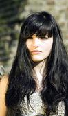 Pretty girl black hair — Stock Photo