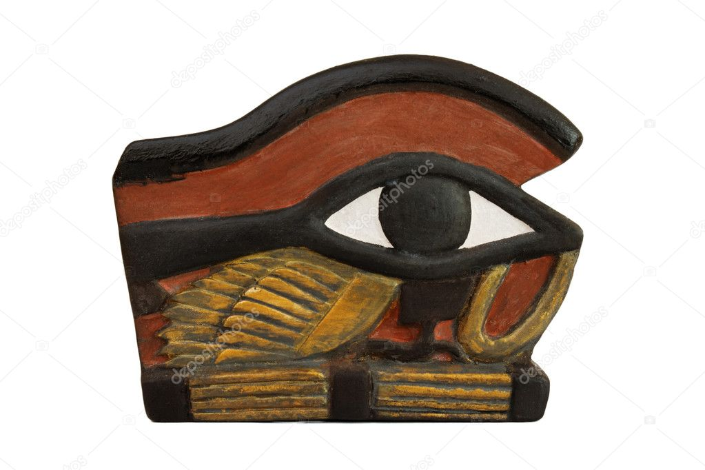The Eye of Horus personified in the goddess Wadjet also written as Wedjat,Uadjet or Uto   and as The Eye of Ra  or Udjat  is an ancient Egypti — Stock Photo #3197457