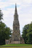 Kostel s věží — Stock fotografie