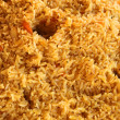 Fried rice closeup, traditional oriental food - Stock Photo