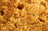 Fried rice closeup, traditional oriental food — Stock Photo