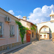 Old street in Evpatoria, Crimea, Ukraine - Stock Photo