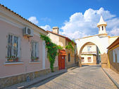Old street in Evpatoria, Crimea, Ukraine — Stock Photo