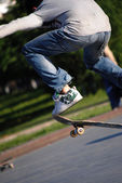 Skateboard's jump — Stockfoto