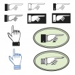 Set of pointing hands — Stock Vector