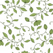 Seamless green floral pattern - Stock Vector