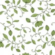 Seamless green floral pattern - 