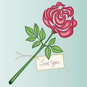 Valentine rose — Stock Vector