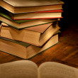 Stock Photo: Books for evening reading