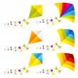 Colorful kites — Stock Vector