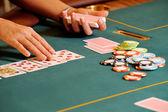 Casino hands — Stock Photo