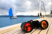 Binocular on yacht — Stock Photo