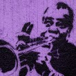 Stock Photo: Trumpeter graffiti
