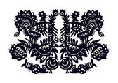 Dark blue doves- pattern — Stock Vector