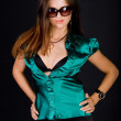 Lady in green blouse — Stock Photo #3198381