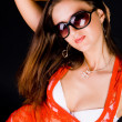 Lady in red blouse — Stock Photo #3198431