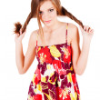 Pretty alluring young girl in dress — Stock Photo #3198887