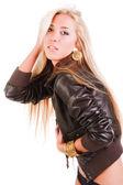 Krásná mladá dívka skromné — Stock fotografie