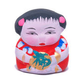 Mini cute girl doll — Stockfoto