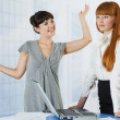 Stock Photo: Young women at office