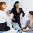 Young women at the office — Stock Photo