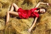 Young Attractive Beautiful Woman Enjoying the sun — Stock Photo
