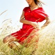 Young Attractive Beautiful WomEnjoying sun — Stock Photo #3458954