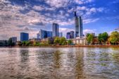 Riverside commercial buildings in frankfurt, germany — Stock Photo